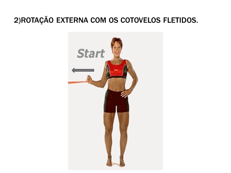 2)Rotação externa com os cotovelos fletidos.