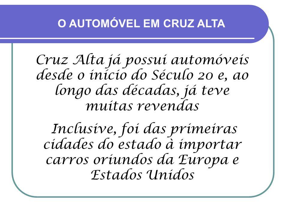 O AUTOMÓVEL EM CRUZ ALTA