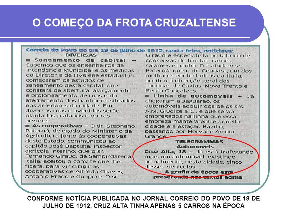 O COMEÇO DA FROTA CRUZALTENSE