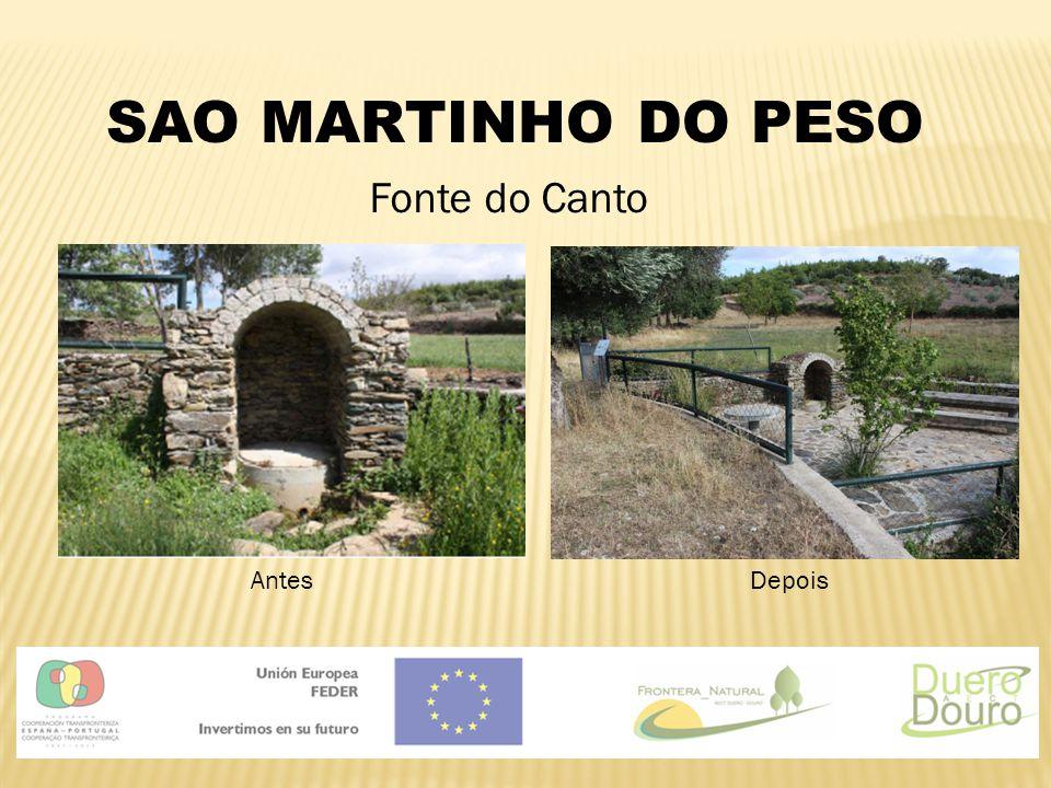 SAO MARTINHO DO PESO Fonte do Canto Antes Depois