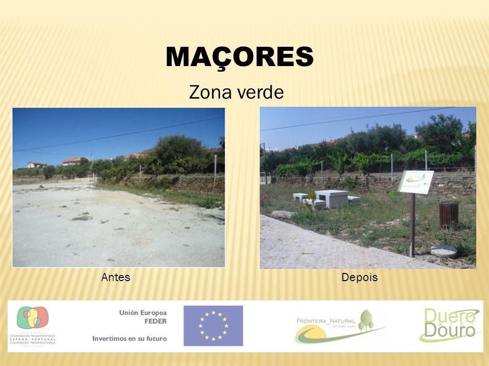 MAÇORES Zona verde Antes Depois