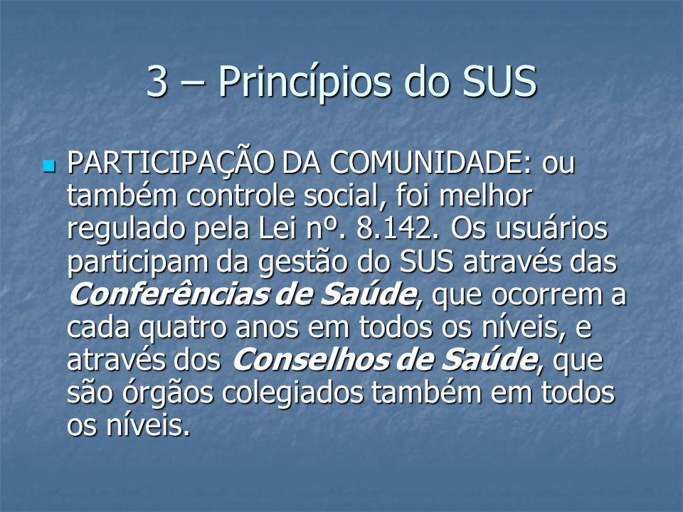 3 – Princípios do SUS