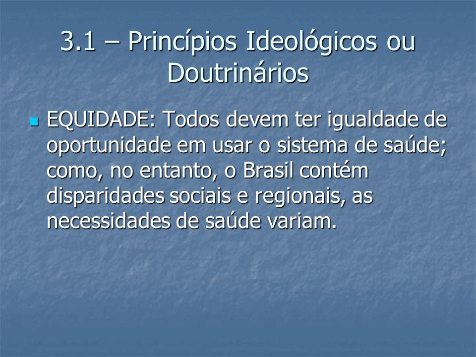 3.1 – Princípios Ideológicos ou Doutrinários