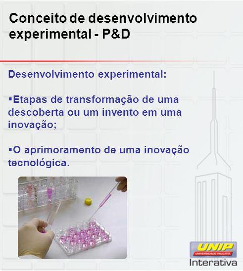 Conceito de desenvolvimento experimental - P&D