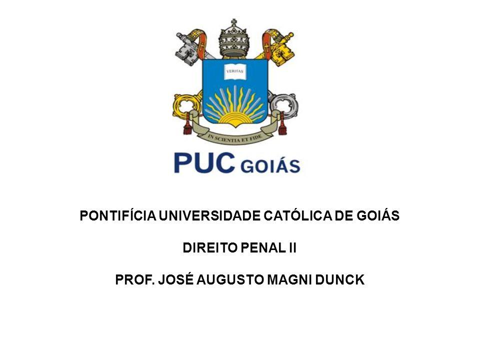 PONTIFÍCIA UNIVERSIDADE CATÓLICA DE GOIÁS DIREITO PENAL II