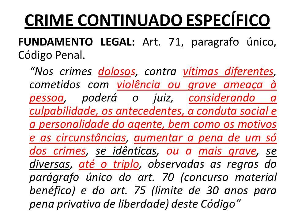 CRIME CONTINUADO ESPECÍFICO