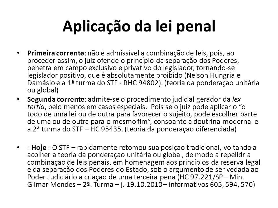 Aplicação da lei penal