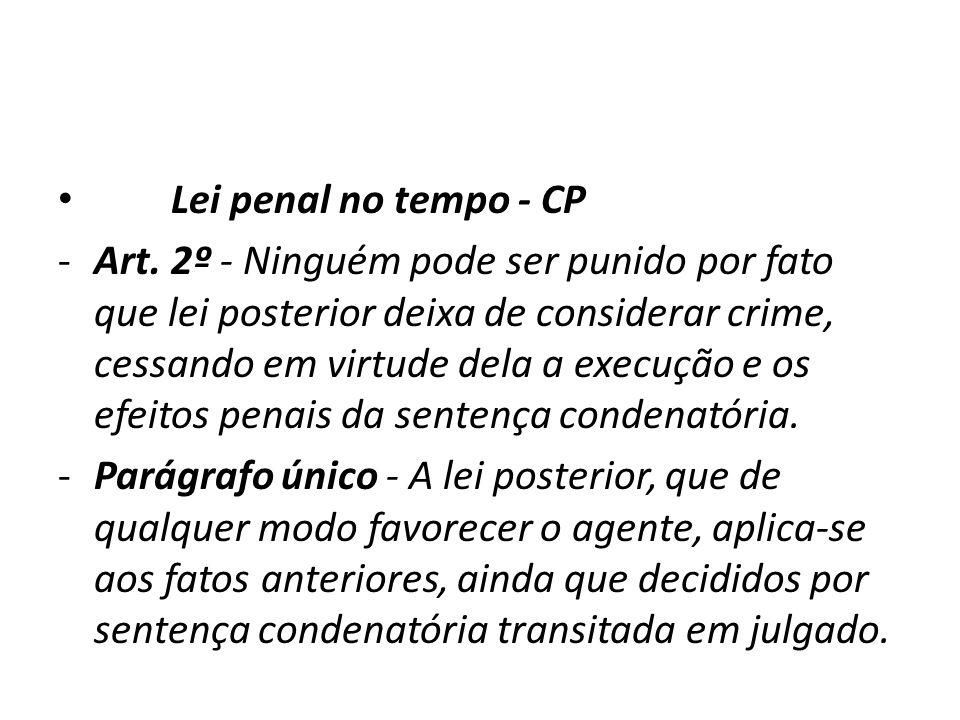 Lei penal no tempo - CP