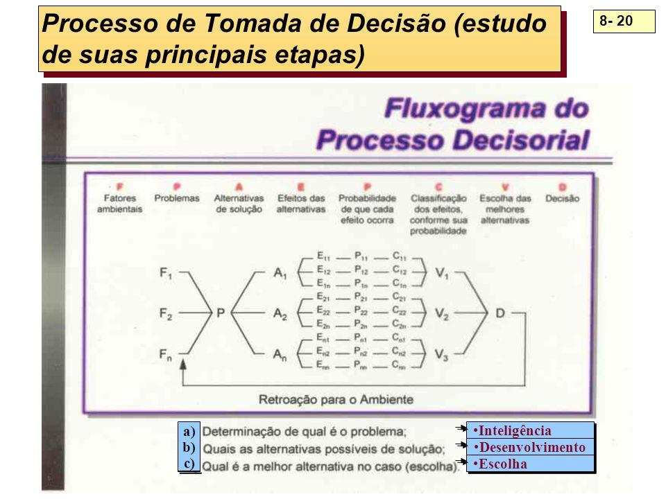 Processo de Tomada de Decisão (estudo de suas principais etapas)