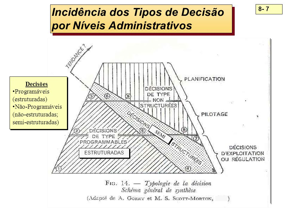 Incidência dos Tipos de Decisão por Níveis Administrativos