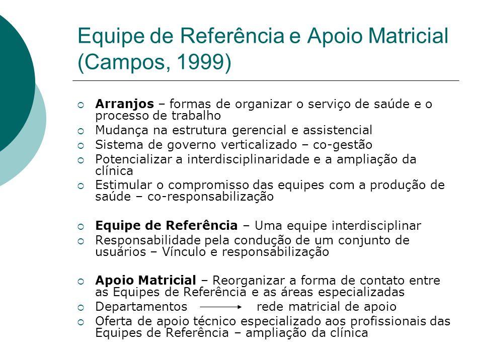 Equipe de Referência e Apoio Matricial (Campos, 1999)