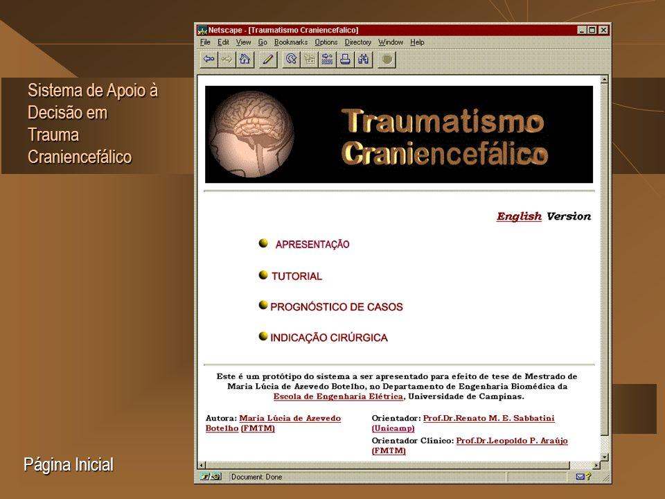 Sistema de Apoio à Decisão em Trauma Craniencefálico