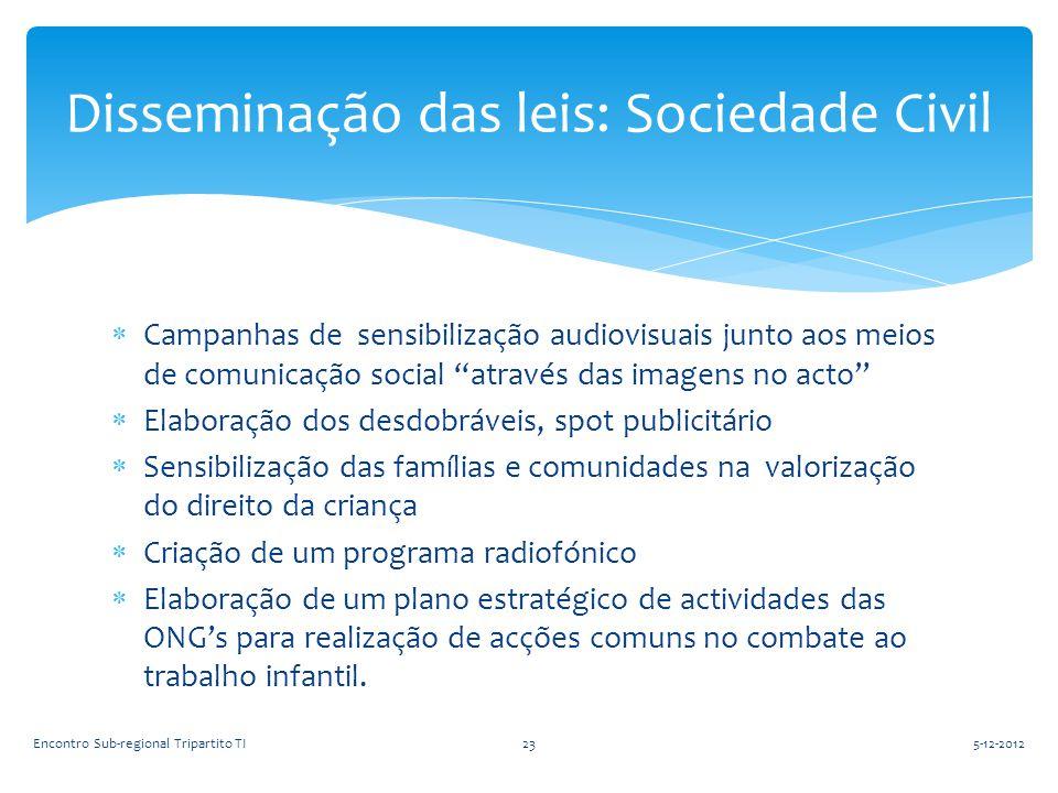 Disseminação das leis: Sociedade Civil