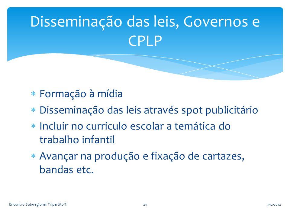 Disseminação das leis, Governos e CPLP