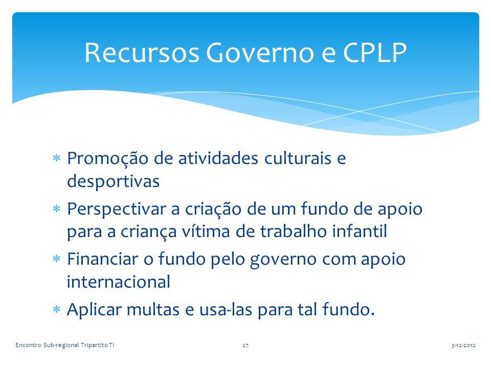 Recursos Governo e CPLP