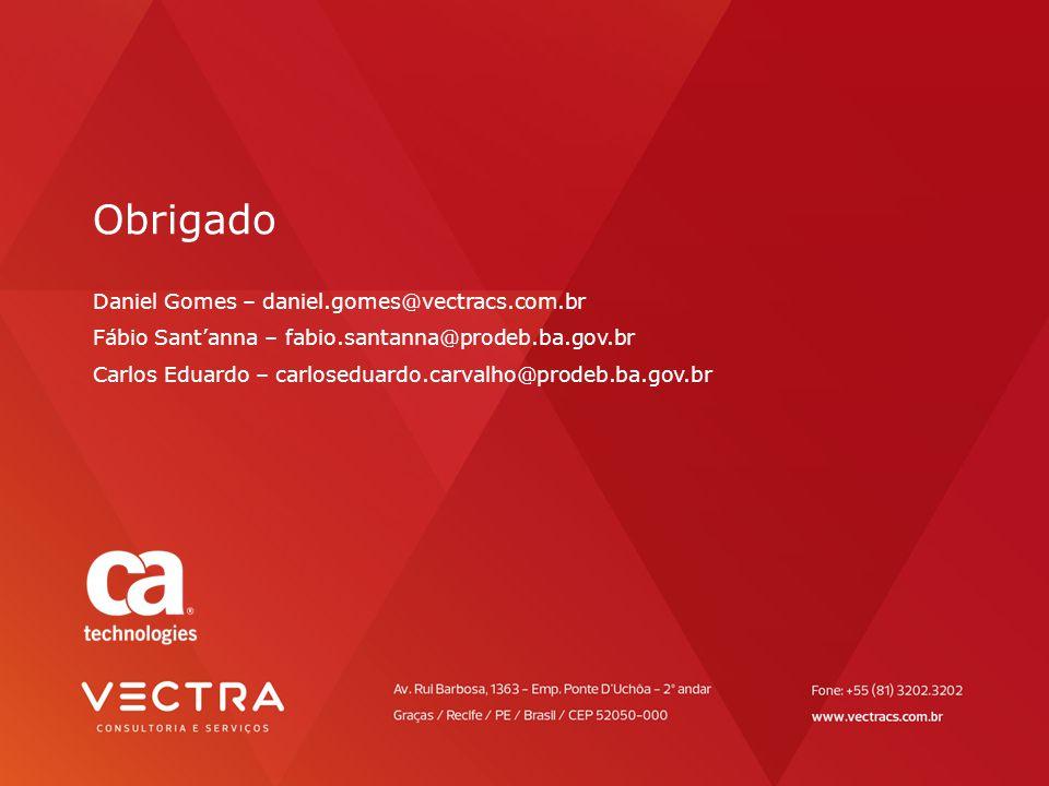 Obrigado Daniel Gomes – daniel. gomes@vectracs. com