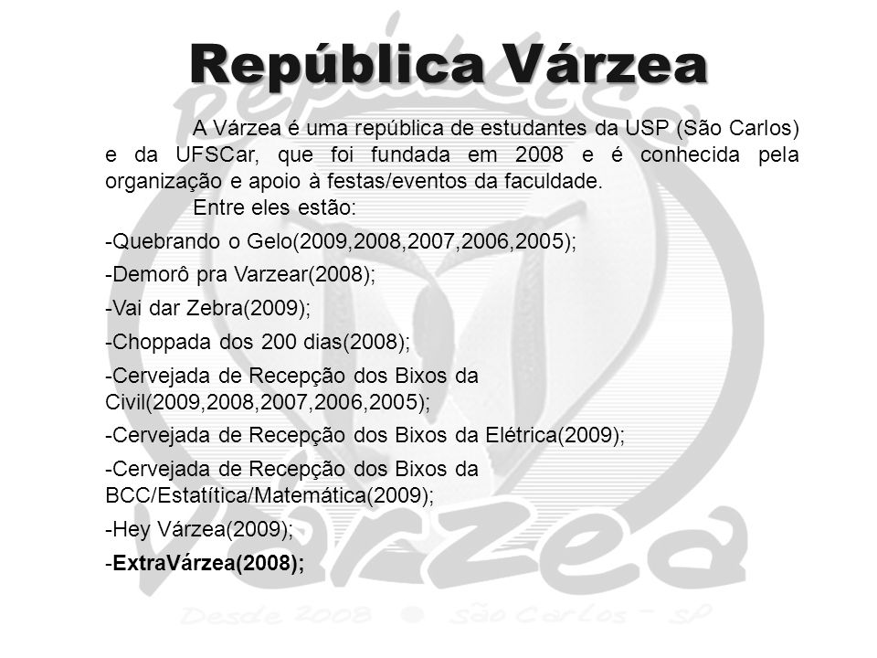 República Várzea