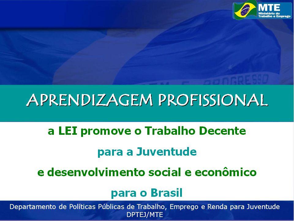 Departamento de Políticas Públicas de Trabalho, Emprego e Renda para Juventude DPTEJ/MTE