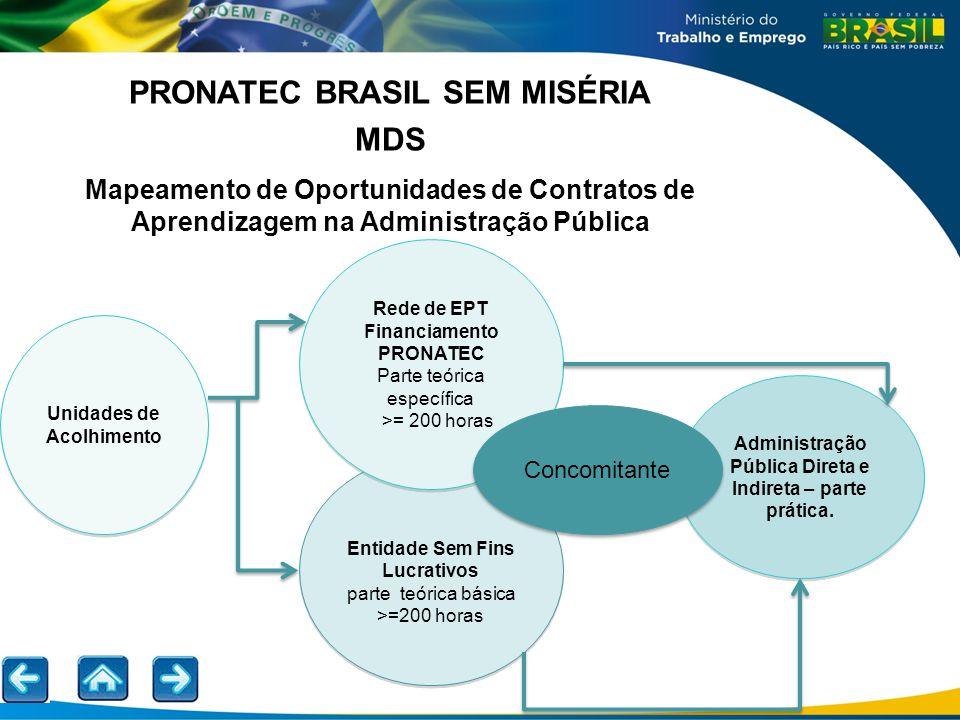 PRONATEC BRASIL SEM MISÉRIA MDS