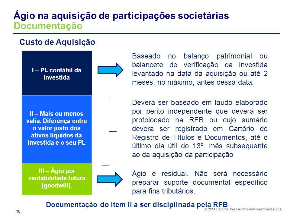 Ágio na aquisição de participações societárias Documentação