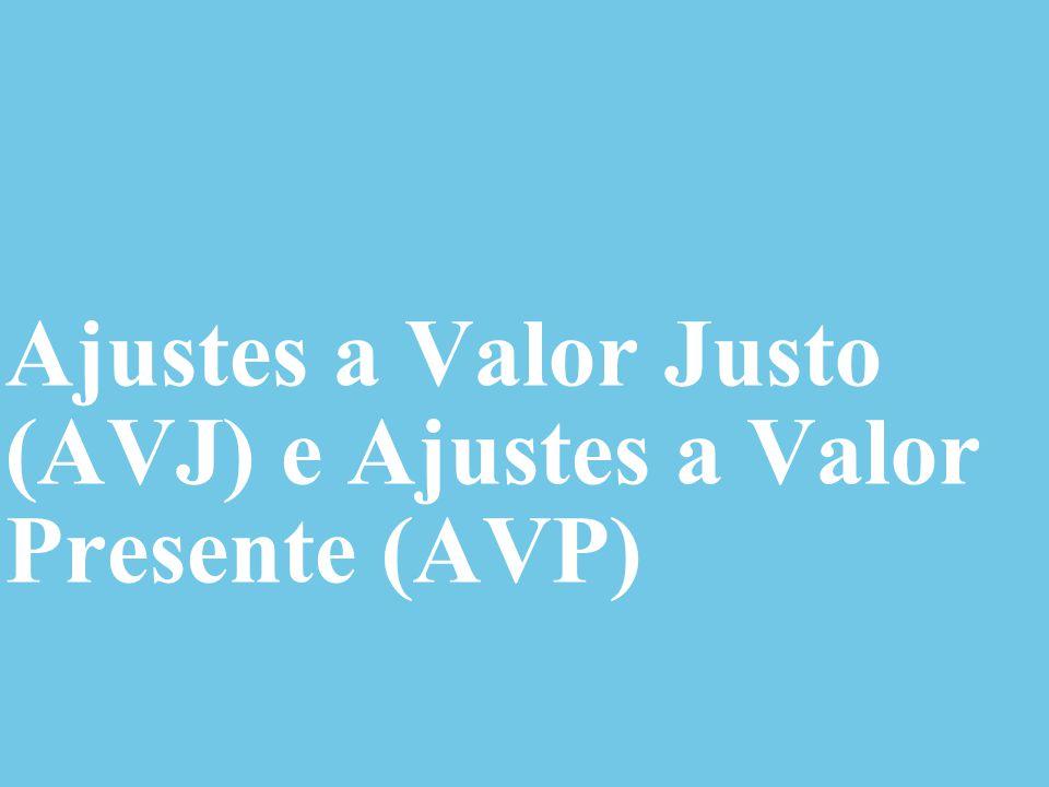 Ajustes a Valor Justo (AVJ) e Ajustes a Valor Presente (AVP)
