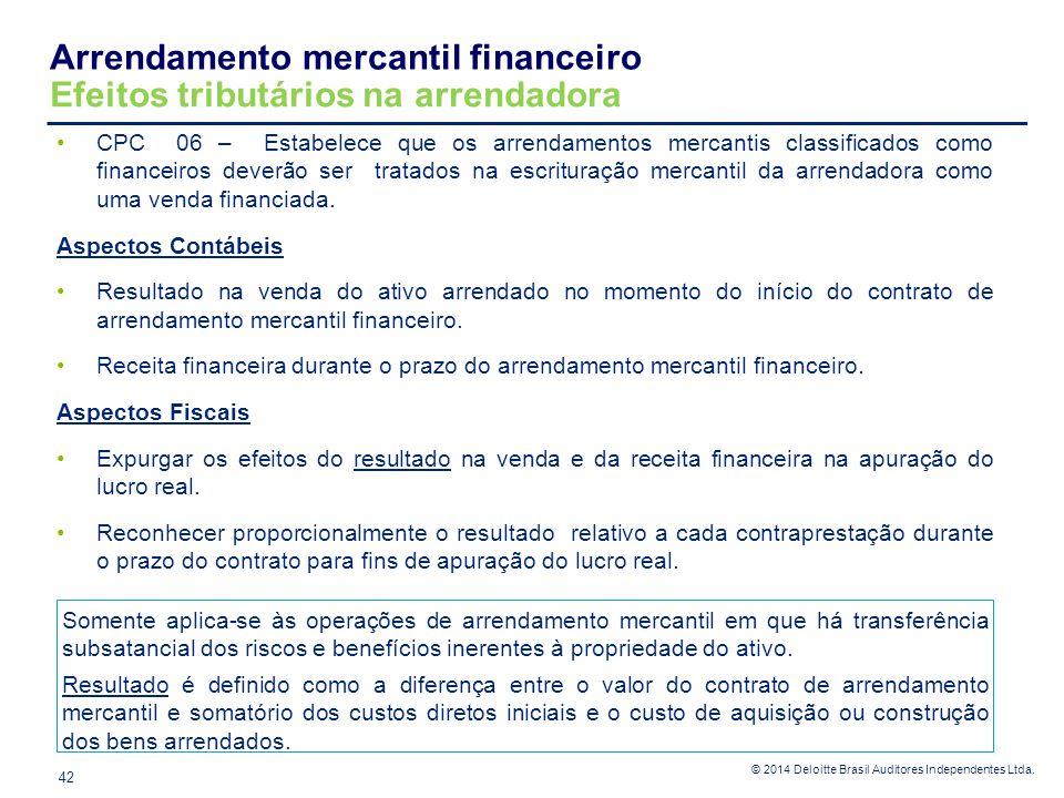 Arrendamento mercantil financeiro Efeitos tributários na arrendadora