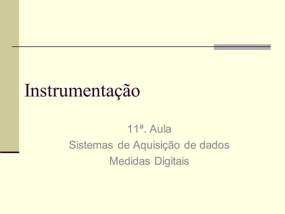 11ª. Aula Sistemas de Aquisição de dados Medidas Digitais