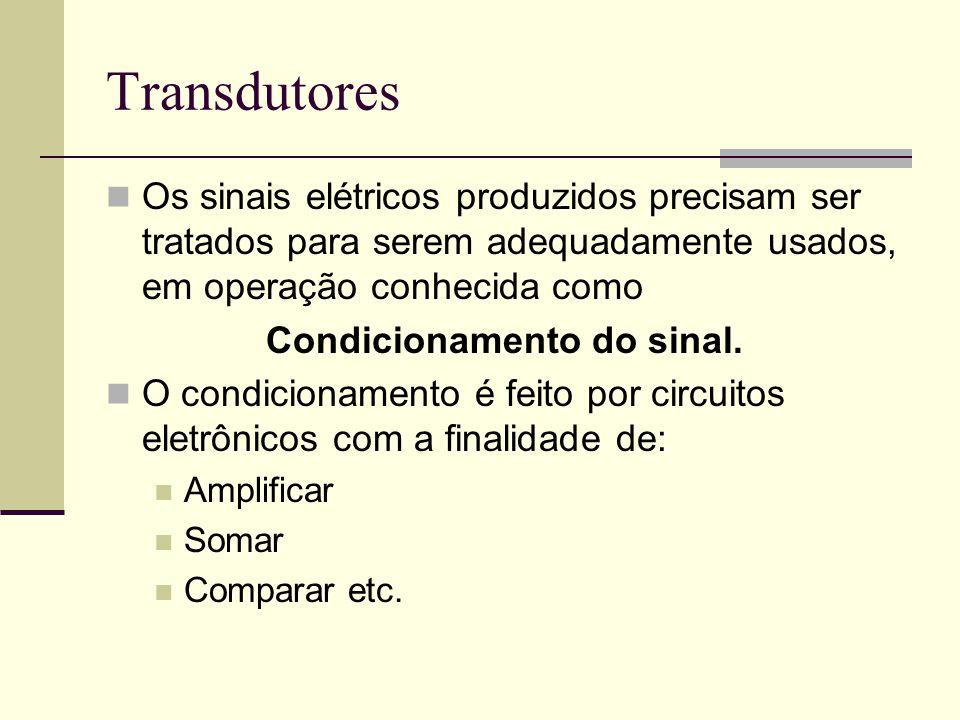 Condicionamento do sinal.