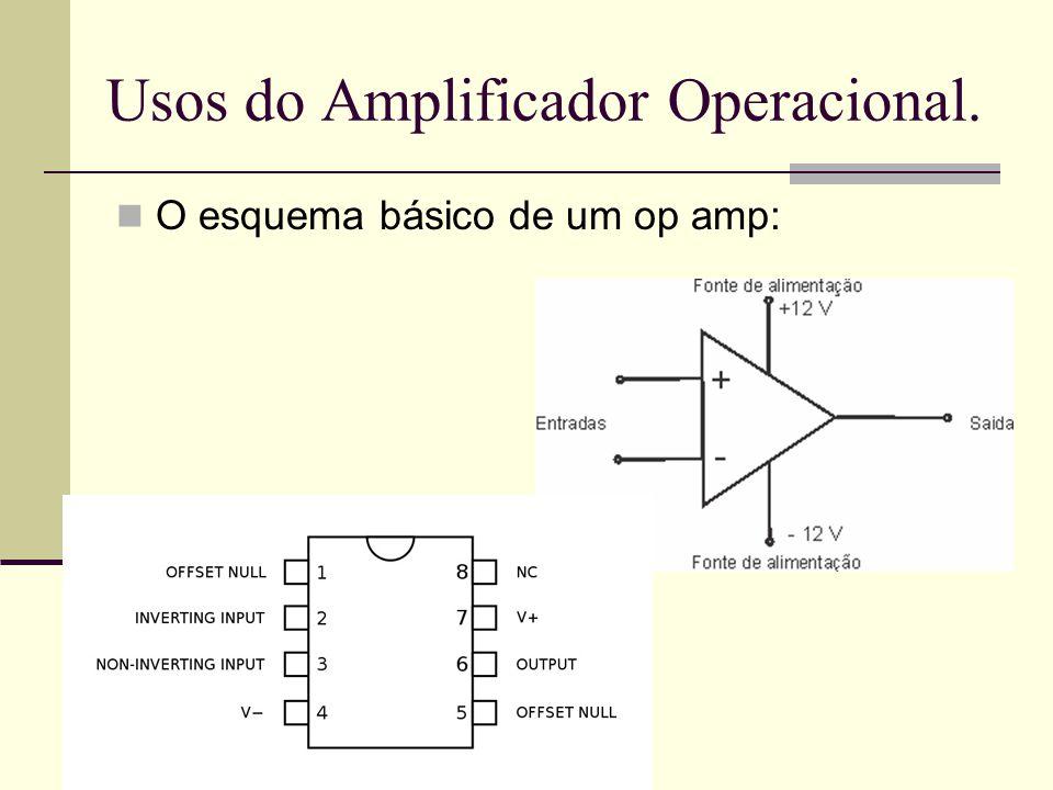 Usos do Amplificador Operacional.