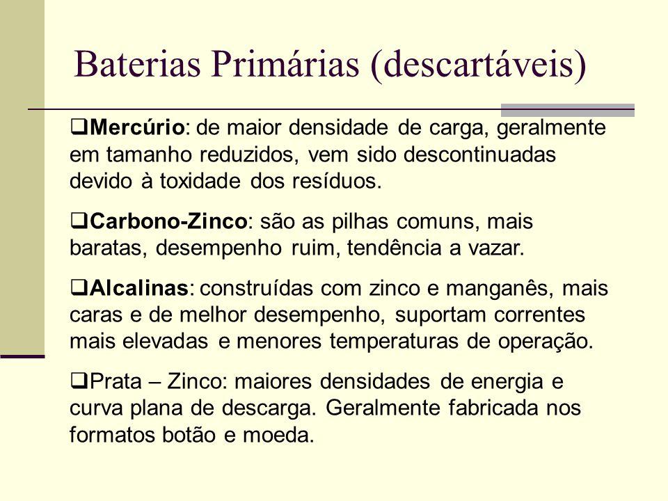 Baterias Primárias (descartáveis)