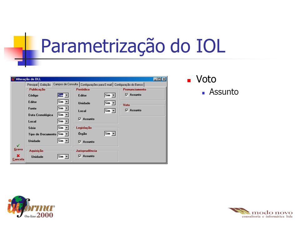 Parametrização do IOL Voto Assunto