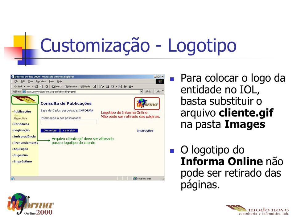 Customização - Logotipo