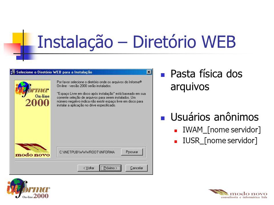 Instalação – Diretório WEB
