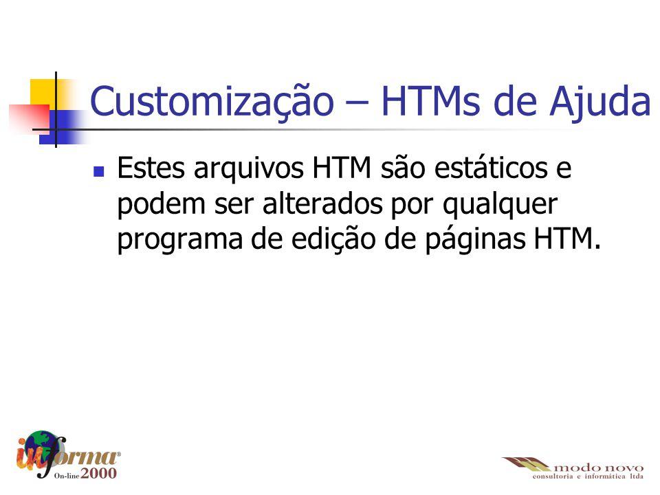 Customização – HTMs de Ajuda