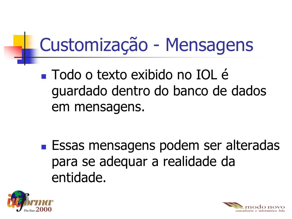 Customização - Mensagens