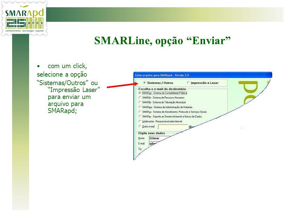 SMARLine, opção Enviar