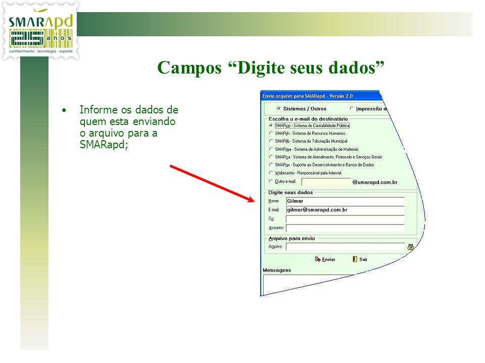 Campos Digite seus dados