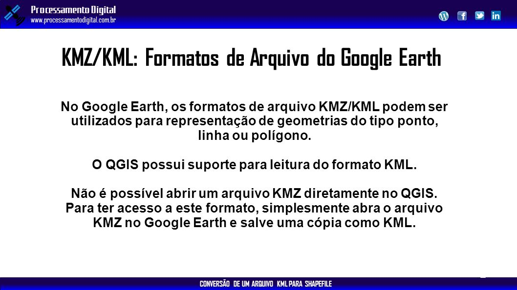 KMZ/KML: Formatos de Arquivo do Google Earth