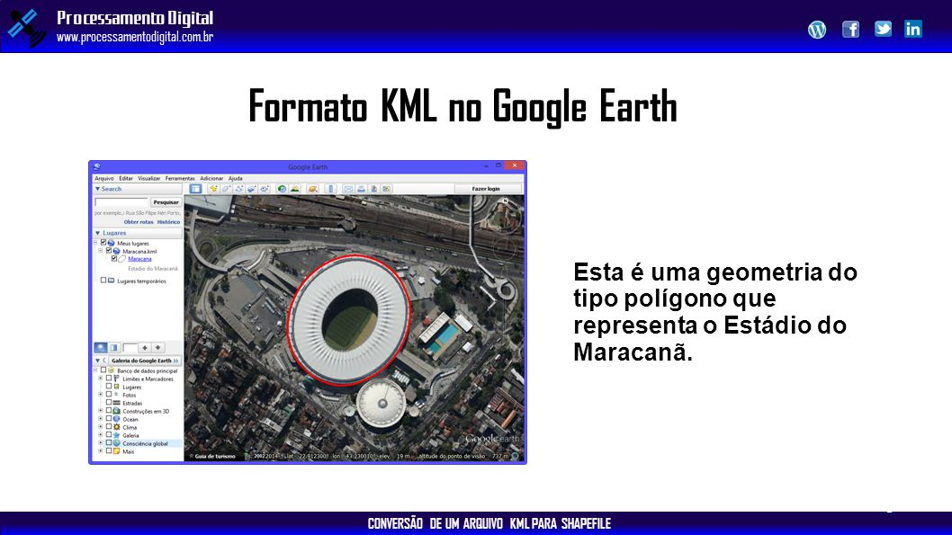 Formato KML no Google Earth