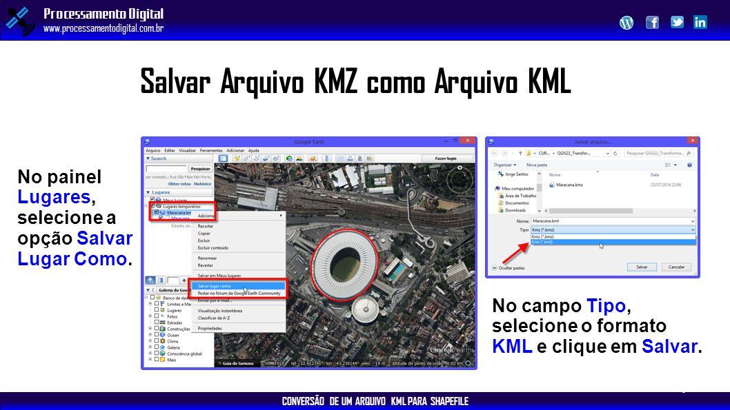 Salvar Arquivo KMZ como Arquivo KML
