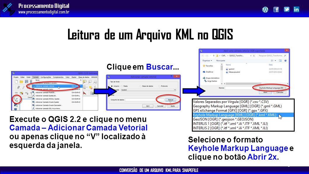 Leitura de um Arquivo KML no QGIS