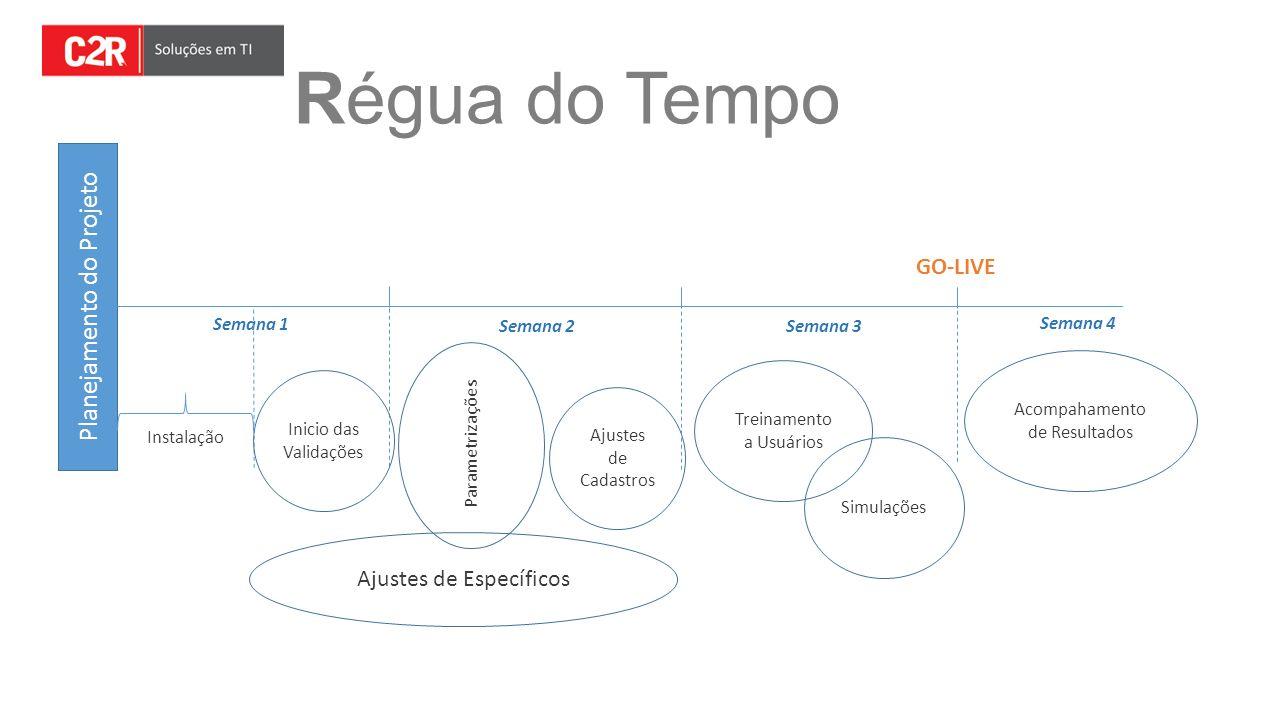 Régua do Tempo Planejamento do Projeto GO-LIVE Ajustes de Específicos