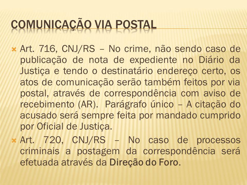 Comunicação via postal