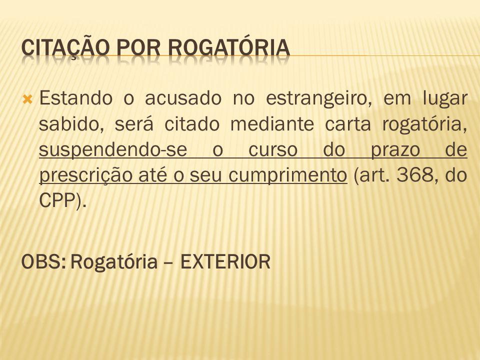 CITAÇÃO POR ROGATÓRIA