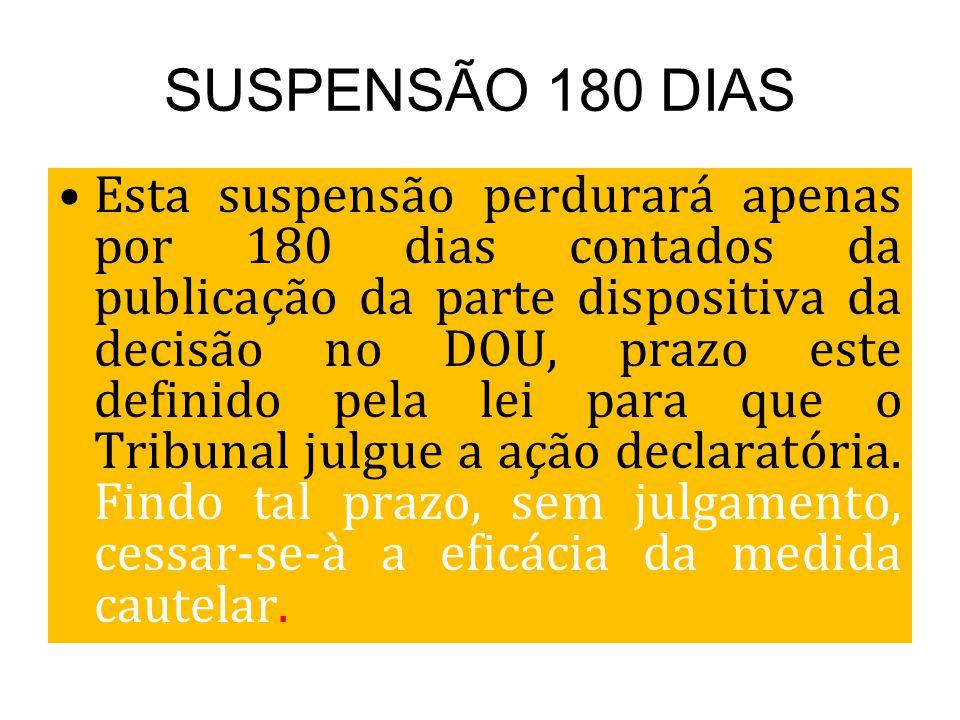 SUSPENSÃO 180 DIAS