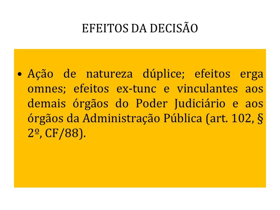 EFEITOS DA DECISÃO