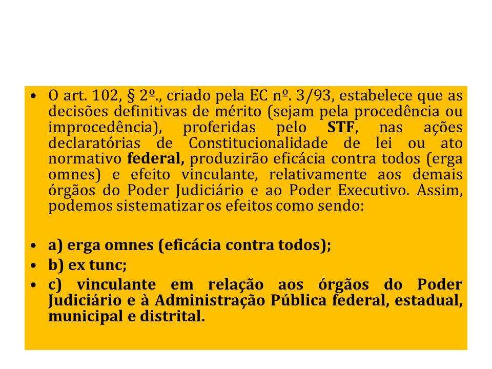 O art. 102, § 2º. , criado pela EC nº