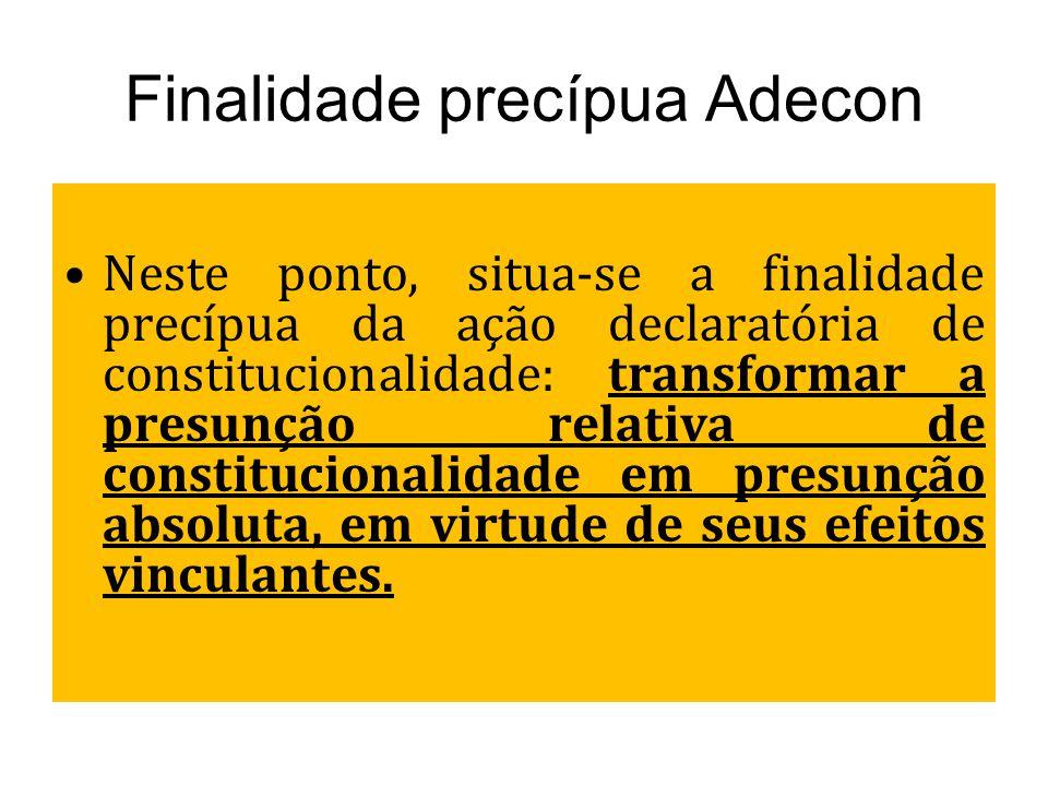 Finalidade precípua Adecon