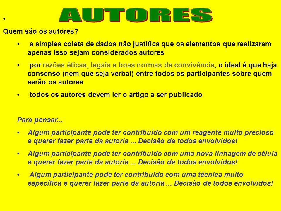 AUTORES Quem são os autores