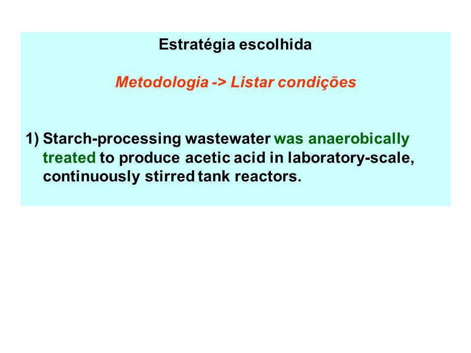 Metodologia -> Listar condições